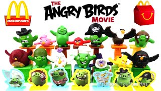 2016 McDONALD'S THE ANGRY BIRDS MOVIE SET 14 HAPPY MEAL KIDS TOYS UK ACTION U.K. COLLECTION REVIEW