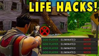 Fortnite: 5 LIFE HACKS! Become A PRO PLAYER! (Fortnite Battle Royale)