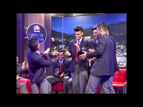 U-19 Nepal Cricket Team Dance LIVE (HUAWEI Namaste TV Show)