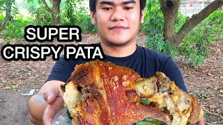 OUTDOOR COOKING  CRISPY PATA MUKBANG