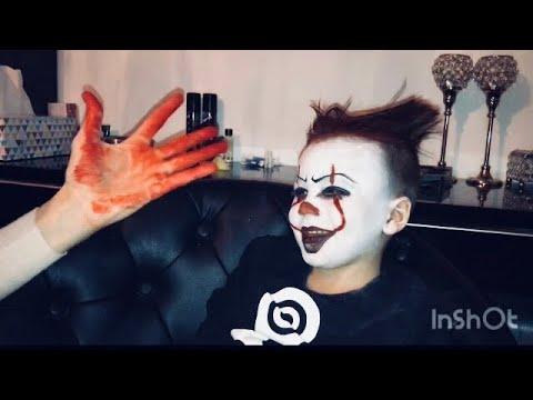 Killer Clown Pennywise Makeup Gesicht Schminken Youtube