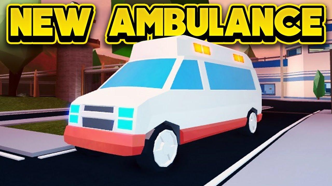 New Ambulance Next Update Roblox Jailbreak Youtube