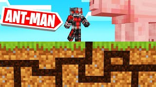 Playing MINECRAFT As ANT-MAN! (Super Tiny!)