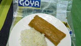 Sweets taste tests GOYA Frozen pork pasteles!