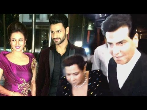 Jeetendra With Wife Shobha Kapoor At Divyanka-Vivek's Wedding Reception