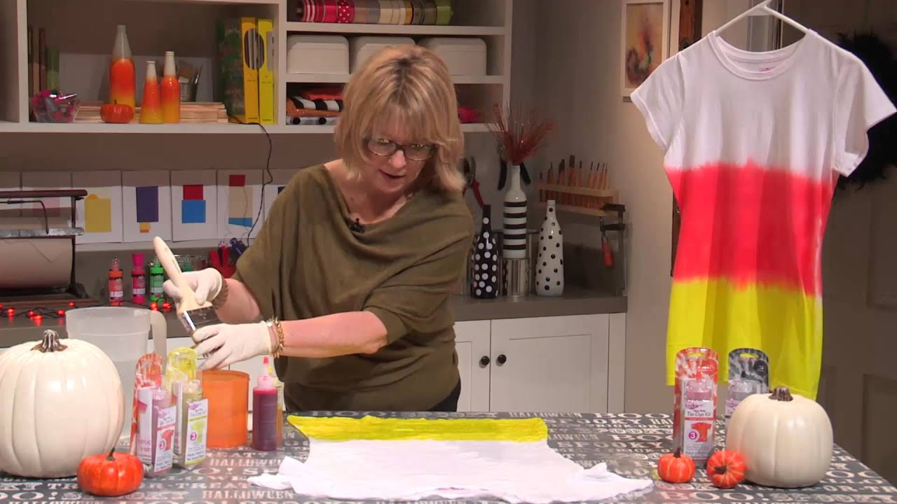 Create A Tie Dye Candy Corn T Shirt With Tulip One Step Tie Dye Kit From Ilovetocreate