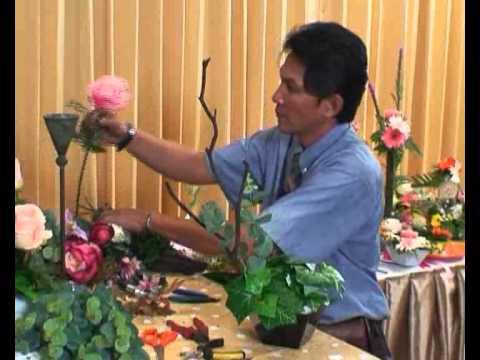 การจัดดอกไม้แห้งบนแจกัน1