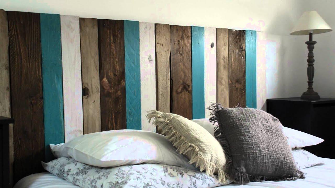 Camas de pallets cama hecha con palets muebles de palets - Cabeceros de cama con palets ...