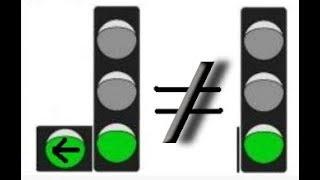 Светофор с дополнительной секцией. Можно ли поворачивать? Ответ на вопрос