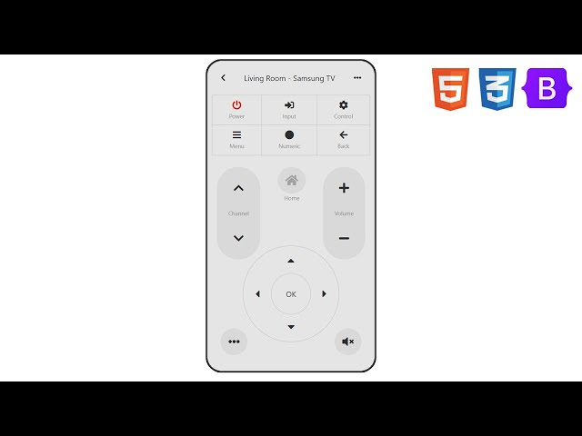Remote Control App | UI Design to HTML, CSS Using Bootstrap 5 | Grid | Transform