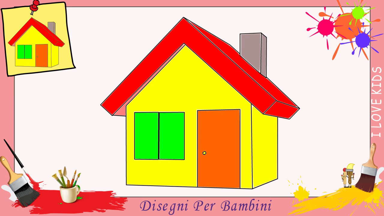 disegni di casa come disegnare una casa facile passo per