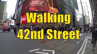 ⁴ᴷ Walking Tour of NYC, Manhattan - 42nd Street from the Hudson River to the East River