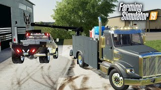 FS19- NEW SERVICE TRUCK FOR THE SHOP- ARM WINCH, TOOLBOX & MORE!