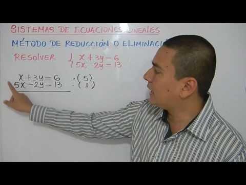 Cómo resolver un sistema de ecuaciones por reducción. Ejemplo 1