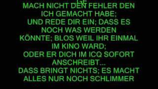 Liebeskummer/ Anti-Liebeskummer Lied