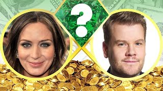 WHO'S RICHER? - Emily Blunt or James Corden? - Net Worth Revealed! (2017)