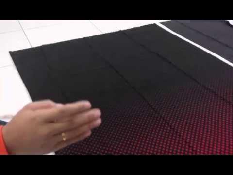 Cara Potong Kain Susun Tepi Baju Kurung - YouTube
