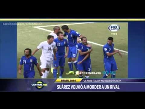 Luis Suárez muerde a Chiellini | Uruguay vs Italia 1-0 Mundial Brasil 2014