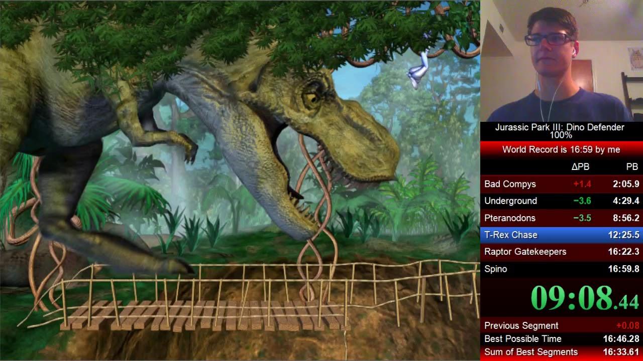 Jurassic park iii dino defender 100 in 16 45 world record youtube - Dinosaure de jurassic park ...