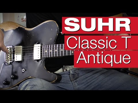 Suhr Classic T Antique Custom HH EB BLK Electric Guitar Review by session