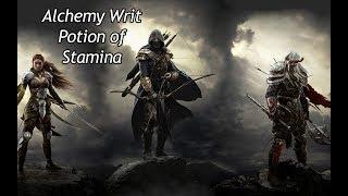 ESO - Craft Potion of Stamina - Alchemy Writ
