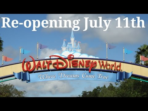 Walt Disney World To Re-Open July 11th
