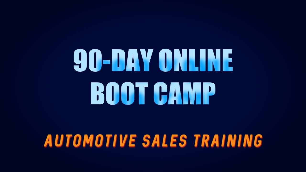 Automotive Service Manager Training Automotive Sales Boot Camp Training Online