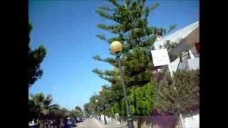 On the bike across Alcudia Mallorca Spain