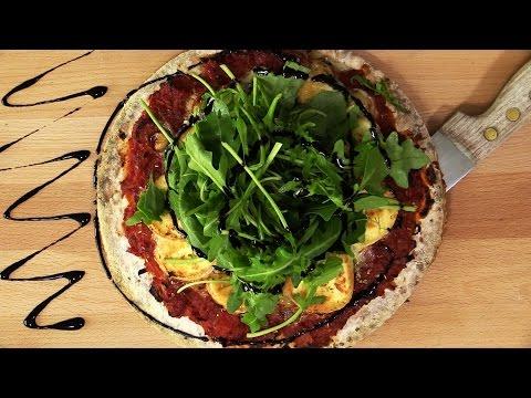 pizza-chèvre-roquette---une-recette-mycoachnutrition