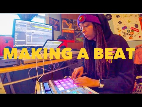 Making a beat with MASCHINE and VINYL RECORDS!!