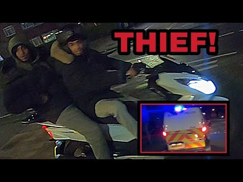 Moped thieves tracked down! Bike taken from them! Part 1