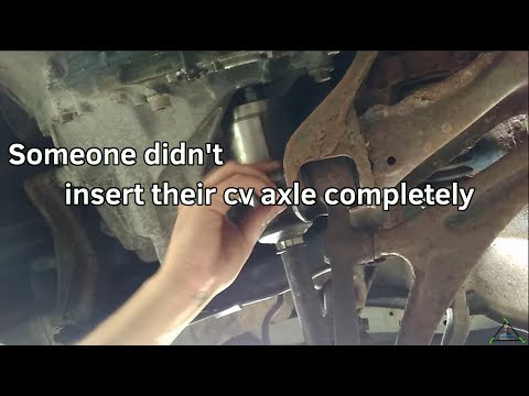 How to install a CV Axle with stuck ball joint bolt