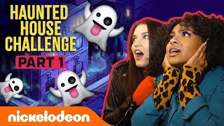 Daniella & Lilimar FREAK OUT in the Haunted House Challenge Pt. 1 👻   Nick