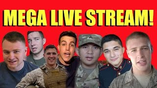 THE MOST EPIC MILITARY VLOGGER LIVESTREAM (Kyle Gott, NavaTheBeast, Drip46, JTsuits, Clayton, DWK)