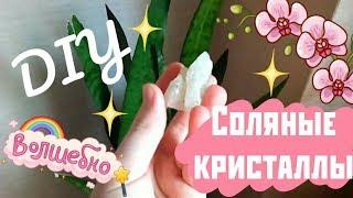 DIY соляные кристаллы