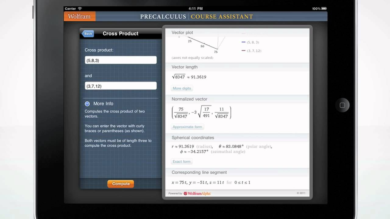 a quick tour of the wolfram precalculus course assistant