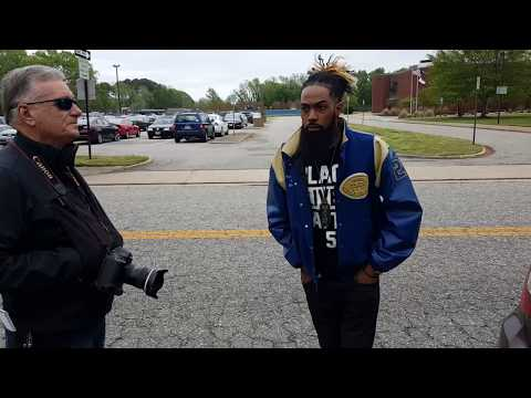 Associated Press interview in front of Phoebus High School