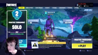 Practice Tournament Solo | V-Bucks Giveaway | Fortnite Battle Royale