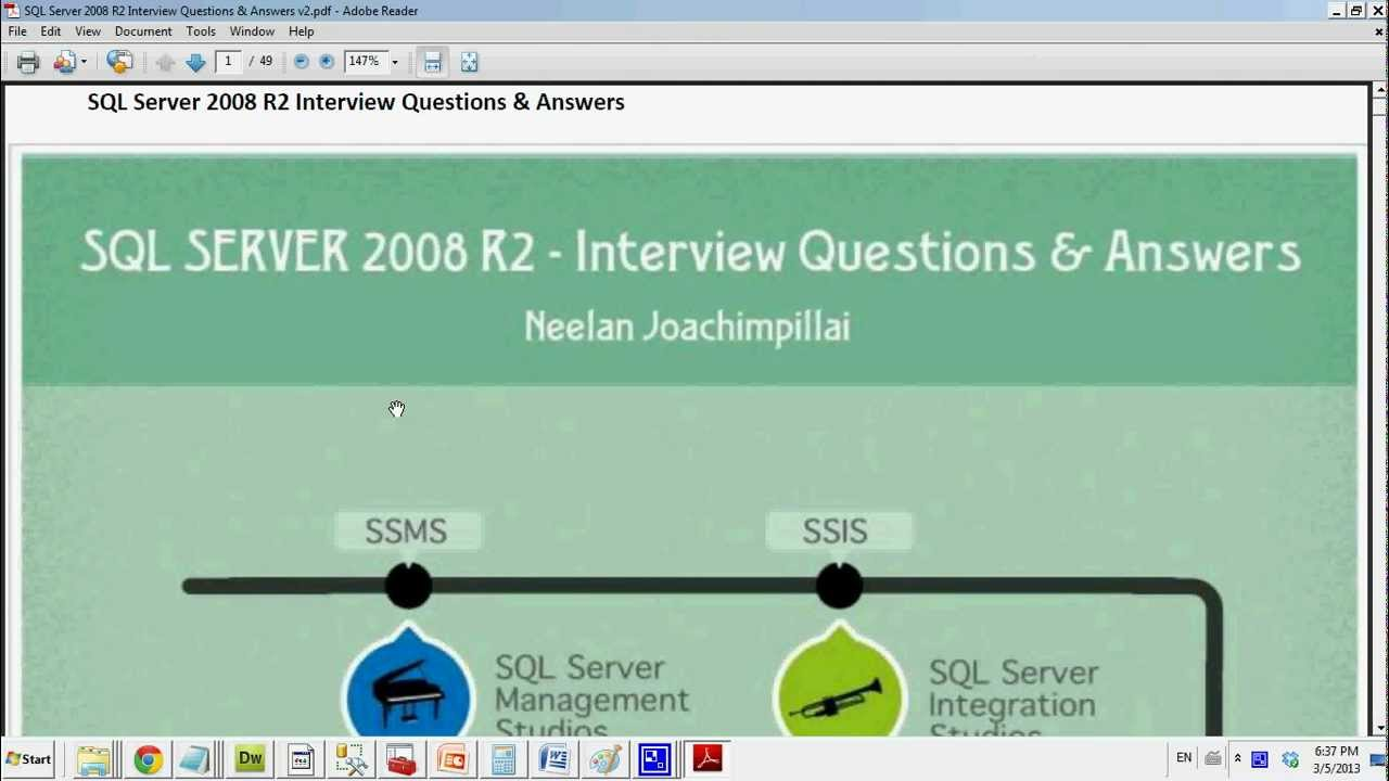 Ebook Project MS SQL Server 2008 Interview Questions Answers V2