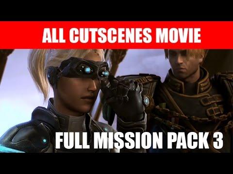 StarCraft 2 Nova Covert Ops Mission Pack 3 All Cutscenes Movie Ending Walkthrough HD Ultra