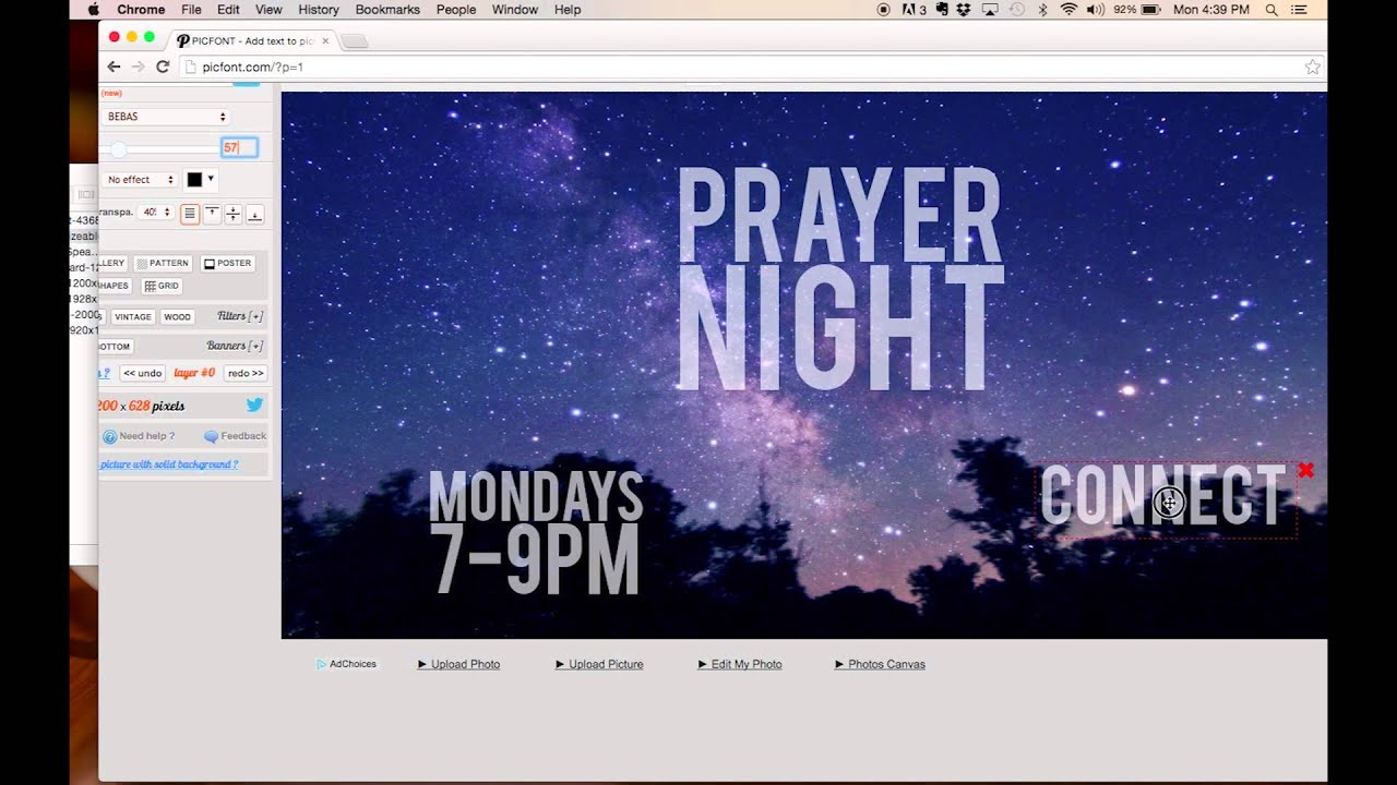 create church flyer prayer night tutorial youtube