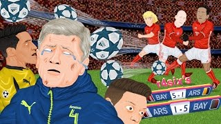 parodia animada del arsenal 1 5 bayern de champions league 7 3 2017