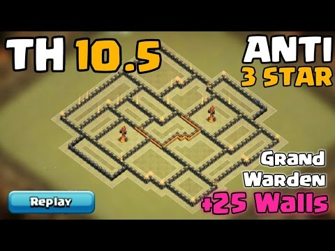 Town Hall 10.5 War Base | Anti 3 Star | Extra Walls, No Eagle, No 4th XBow | Clash Of Clans