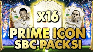 IS THE SBC WORTH IT?!🤯 X16 PRIME ICON SBC PACKS! FIFA 21 Ultimate Team