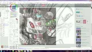 Transformers Fall Of Cybertron - Prowl .: Speed Drawing :. Part 1
