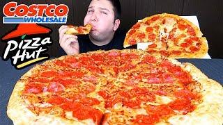 Pizza Hut VS Costco • Which One Better...?!? • MUKBANG