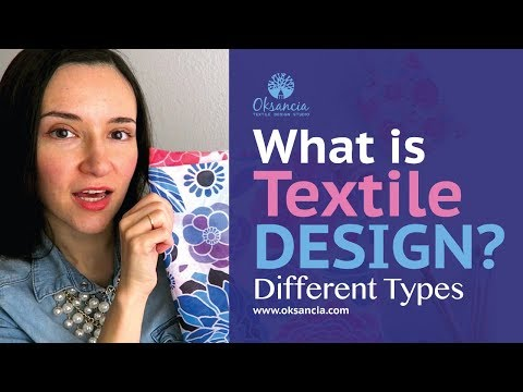 What is textile design? Different types of fabric design and surface pattern design.