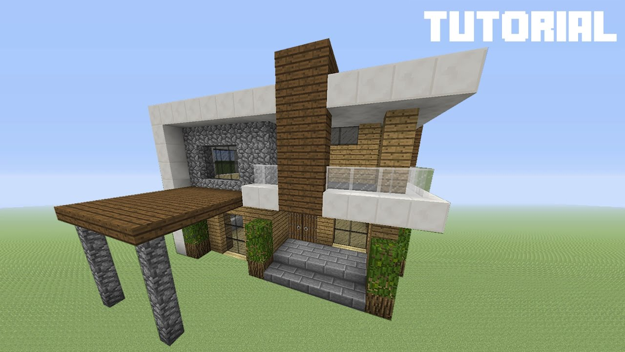 Minecraft Tutorial How To Build A Small Modern Survival House