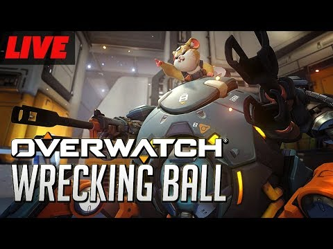 Overwatch's New Hero Wrecking Ball Gameplay Live on PTR