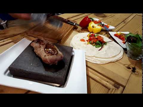 Black Rock Grill, Hot Stone Cooking on Steak Stones